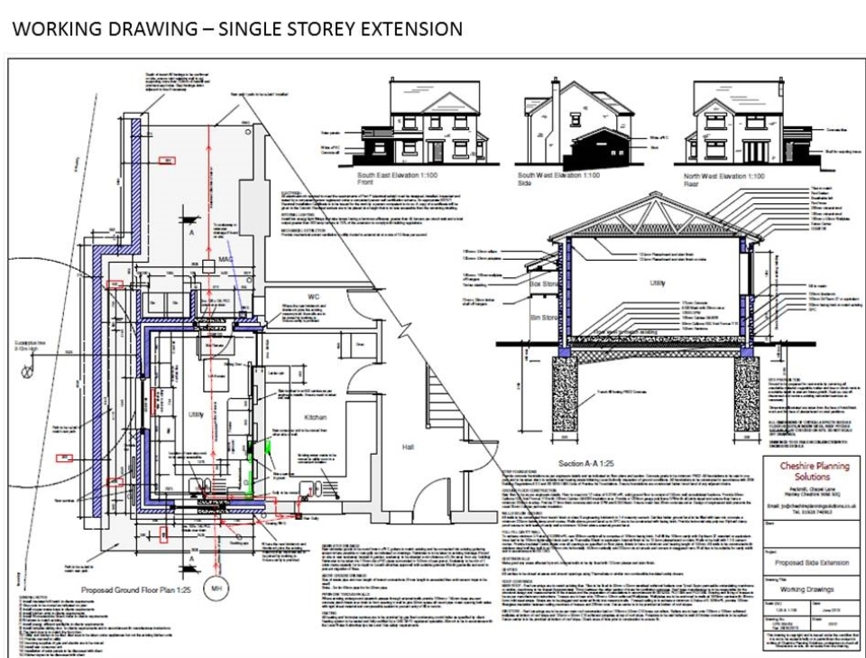 Building regulations plans images for Building plan drawing